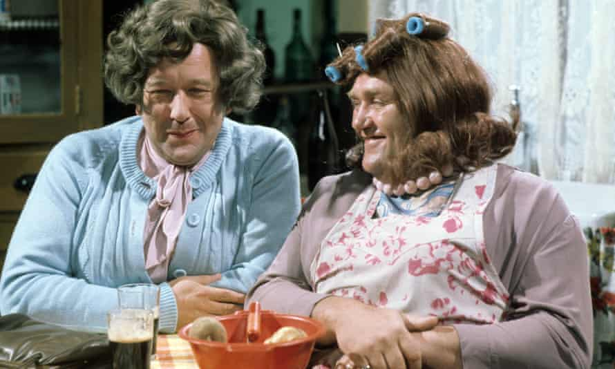 Roy Barraclough, left, and Les Dawson as Cissie and Ada.