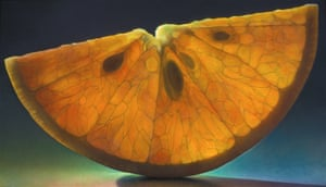 From a series of paintings of fruits by American artist Dennis Wojtkiewicz.