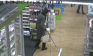 CCTV image of Pauline King at a local shop days before her death.