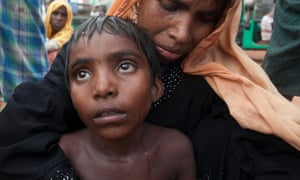 Rohingya Muslim refugees arriving in Bangladesh