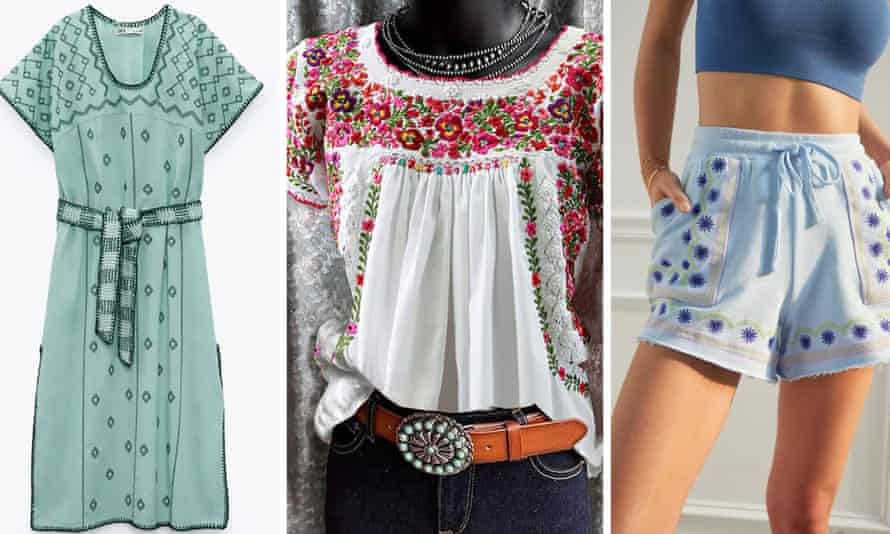Zara, Patowl and Anthropologie are accused of using patterns distinctive to indigenous Mexican communities.