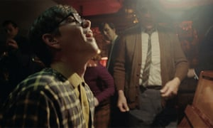 A scene showing a pub gig in the Elton John ad