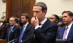 Zuckerberg testifies before the House financial services committee on Wednesday.