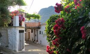 A village street in Ferreirola.