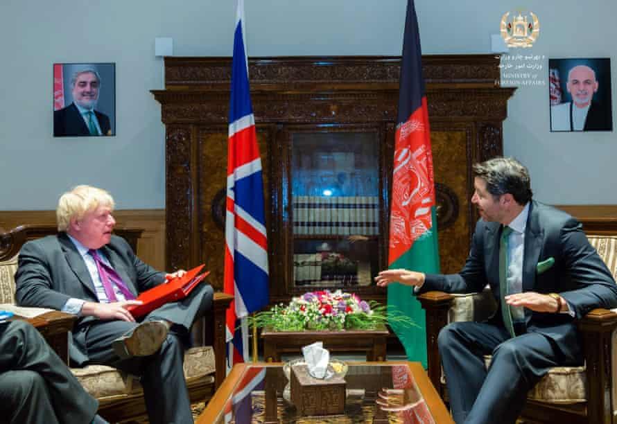 Johnson and Khalil Karzai
