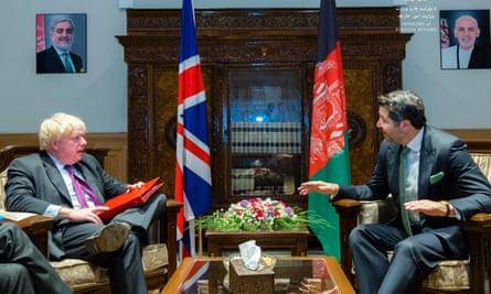 Boris Johnson meets Hekmat Karzai in Kabul