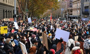 Melbourne's Black Lives Matter rally heard from the families of Tanya Day and Kumanjayi Walker, who died in custody