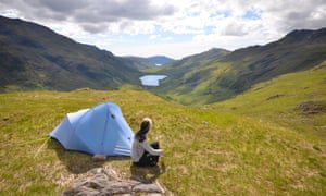 Phoebe Smith wild camping in Scotland.