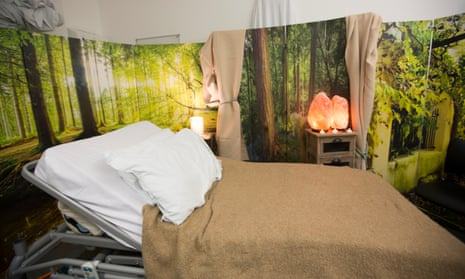 A room at Imperial College where patients take magic mushrooms.