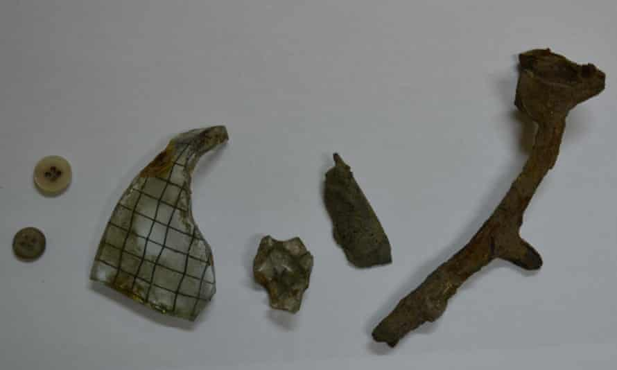 Items the boys tried to steal from the Auschwitz museum.