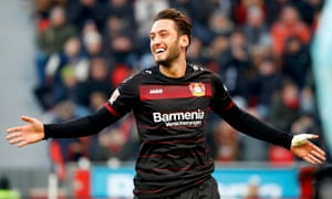 Hakan Calhanoglu joined Bayer Leverkusen in 2014.