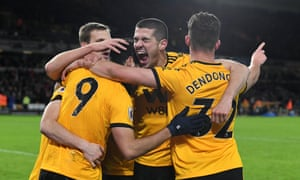 Conor Coady (c) was outstanding for Wolves as they beat Everton 3-1 at Goodison Park.