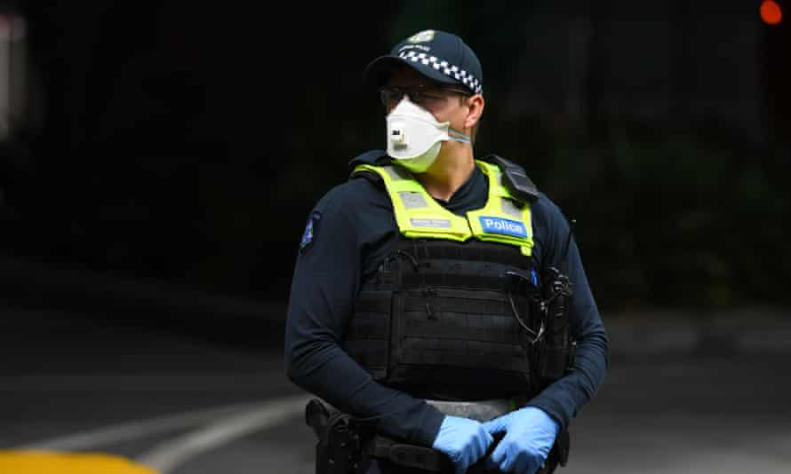 In Victoria police can arrest or issue $1,652 on-the-spot fines for people caught gathering in groups of more than two or for being outside of their homes without a 'reasonable excuse'.