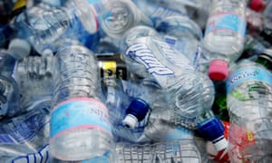 Banned ... single-use plastic bottles.