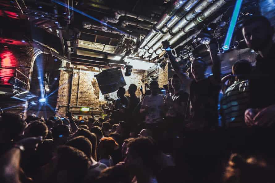 Crowd at Fabric nightclub, London.