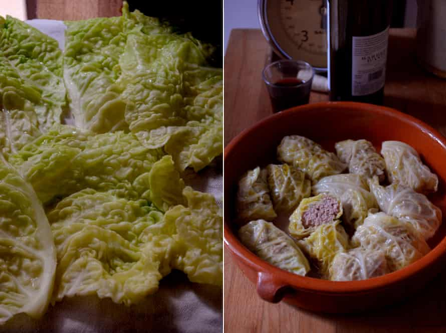 Pale and interesting: Rachel Roddy's stuffed cabbage.
