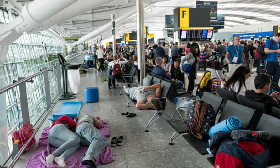 Disruption at Heathrow Airport Terminal 5