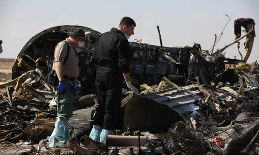 Crash site of Russian  plane in Egypt