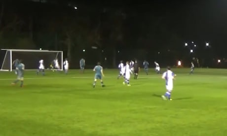 Wigan Athletic youth player Thelo Asgaard scores rabona goal from 20 yards – video