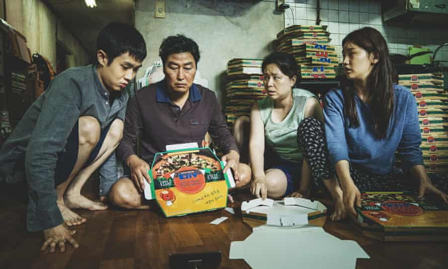 Parasite, directed by Bong Joon Ho, which is up for six Oscars.
