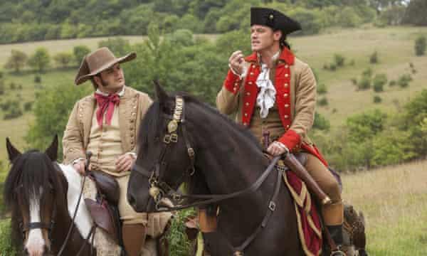 Josh Gad and Luke Evans as LeFou and Gaston