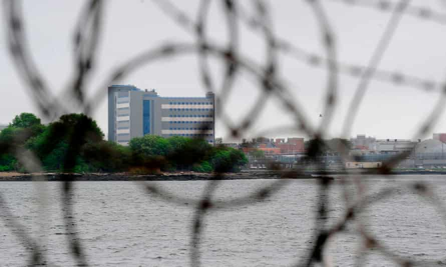 FILES-US-CRIME-PRISON<br>(FILES) This file photo taken on May 17, 2011 shows a view of buildings on Rikers Island penitentiary complex in New York. - New York officials on October 17, 2019 approved a multi-billion-dollar plan to close the city's notorious Rikers Island prison and replace the sprawling complex with smaller jails. (Photo by Emmanuel DUNAND / AFP) (Photo by EMMANUEL DUNAND/AFP via Getty Images)