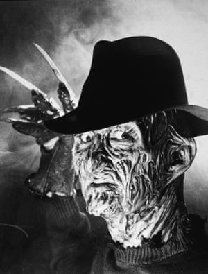 """Freddy Kreuger, the principle character in Craven's movie <a href=""""https://www.youtube.com/watch?v=MRQwxpM1Y10"""">'A Nightmare on Elm Street'</a>, which was released in 1984."""
