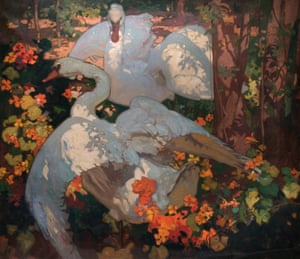 Frank Brangwyn RA (1867–1956) Swans Circa 1921 © William Morris Gallery, London Borough of Waltham Forest