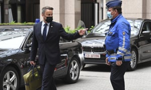 Luxembourg's prime minister Xavier Bettel leaving an EU summit at the European Council building in Brussels on Friday.