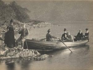 Cumloden, Loch Trool Boating Party, 1888