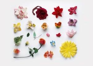 Artificial flowers Stuart Haygarth photo arrangement