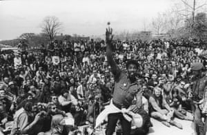 Vietnam veterans demonstrate against the war at a rally outside the US Capitol Building, Washington DC, April 23, 1971.