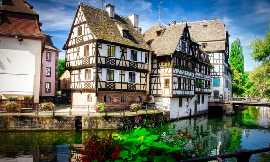 'An unexpected gem': Strasbourg old town, with colourful half-timbered houses.