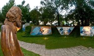 Sculpture and artworks at Santo Domingo del Cerro, Antigua Guatemala, Guatemala.