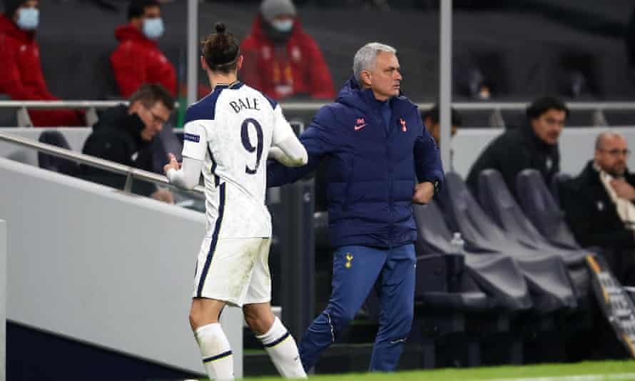 Gareth Bale with José Mourinho