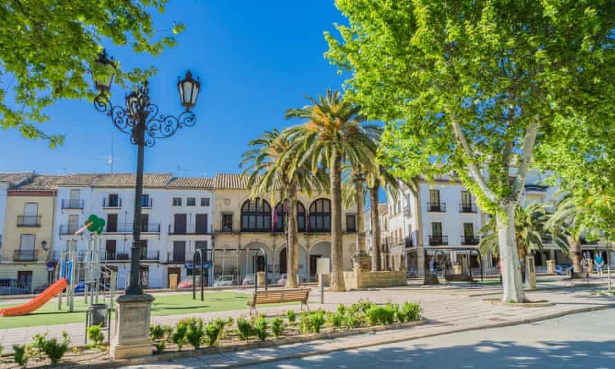Promenade of the Constitution (Paseo de la Constitución) in Baeza, Spain