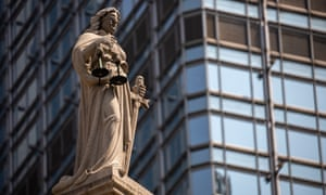 A statue of Lady Justice at the court of final appeal in Hong Kong, where British, Australian and Canadian judges occasionally hear cases.