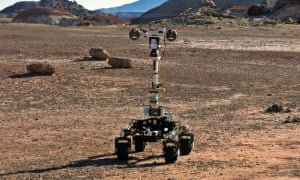 The Mars Utah Rover Field Investigation, or MURFI, mission in 2016. Some test ExoMars instruments are carried by this rover, although the final rover will look very different.