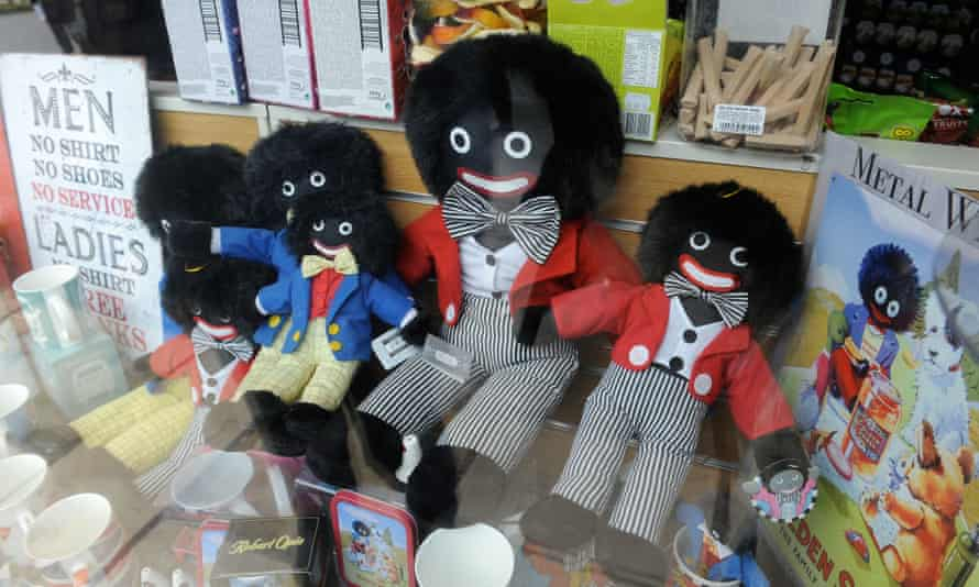 'Gollies' in the window of a shop in North Yorkshire