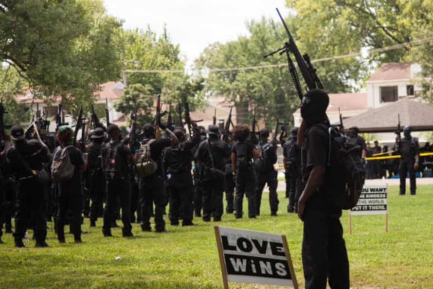 Black Lives Matter protesters gather in a park in Louisville, Kentucky