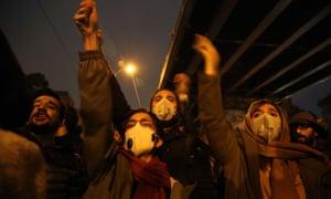 Iranians shout anti-government slogans