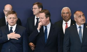 David Cameron with other EU ministers