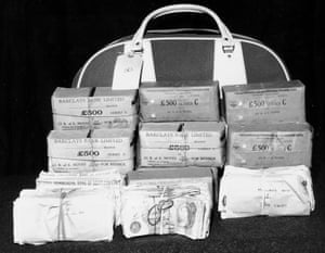 Part of the £2.5m stolen by the Great Train Robbers