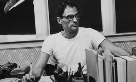 Arthur Miller at work in the mid-1950s