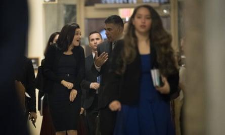 Sheryl Sandberg at the US Capitol in Washington on Thursday.