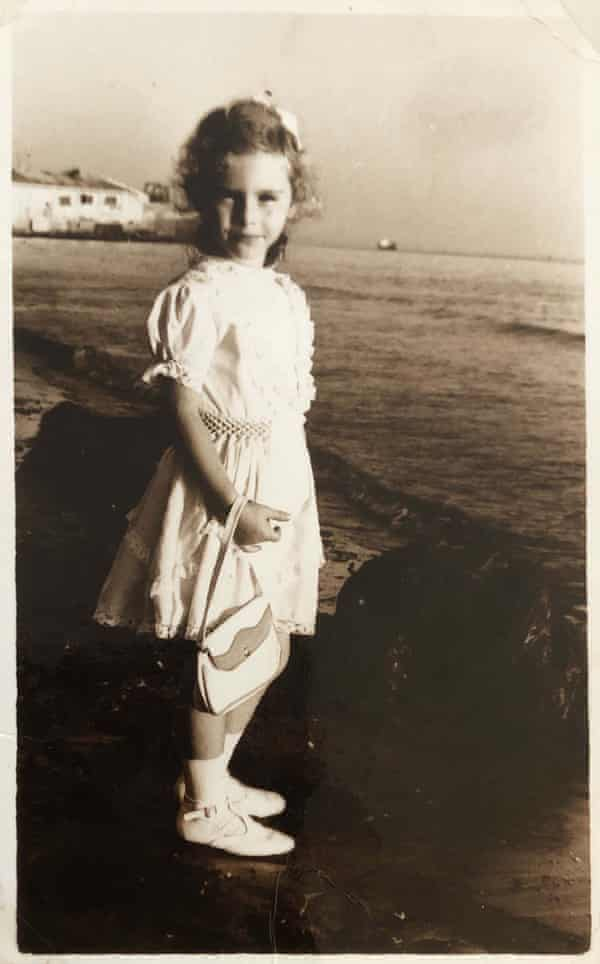 Lea Ypi as a child on the beach at Durrës.