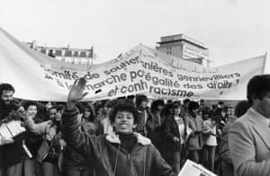 March for equality and against racism in Paris on 3 December 1983