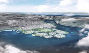 A render of the nine islands that make up the proposed Holmene project.
