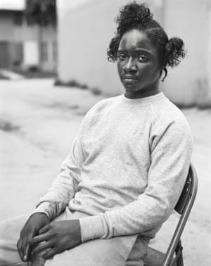 Portrait of a Watts resident, by Dana Lixenberg.
