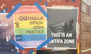 white nationalist posters georgetown